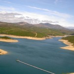 Barragem da Santa Luzia, the water is very low