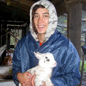 sam and goat kid